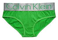 Женское белье Calvin Klein - трусы с широкой резинкой, цвет зеленый