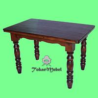 Деревянный стол для кафе на 4 ноги, 120х75