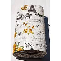 Ткань ранфорс Турция - Louvre 11361 V2 kahve (220 ширина)