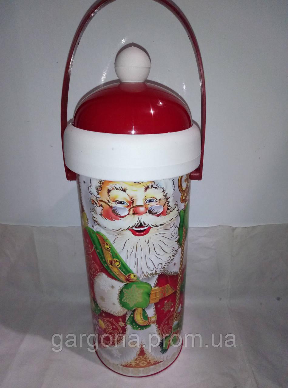 """Новогодний тубус  для конфет """"дед мороз"""""""