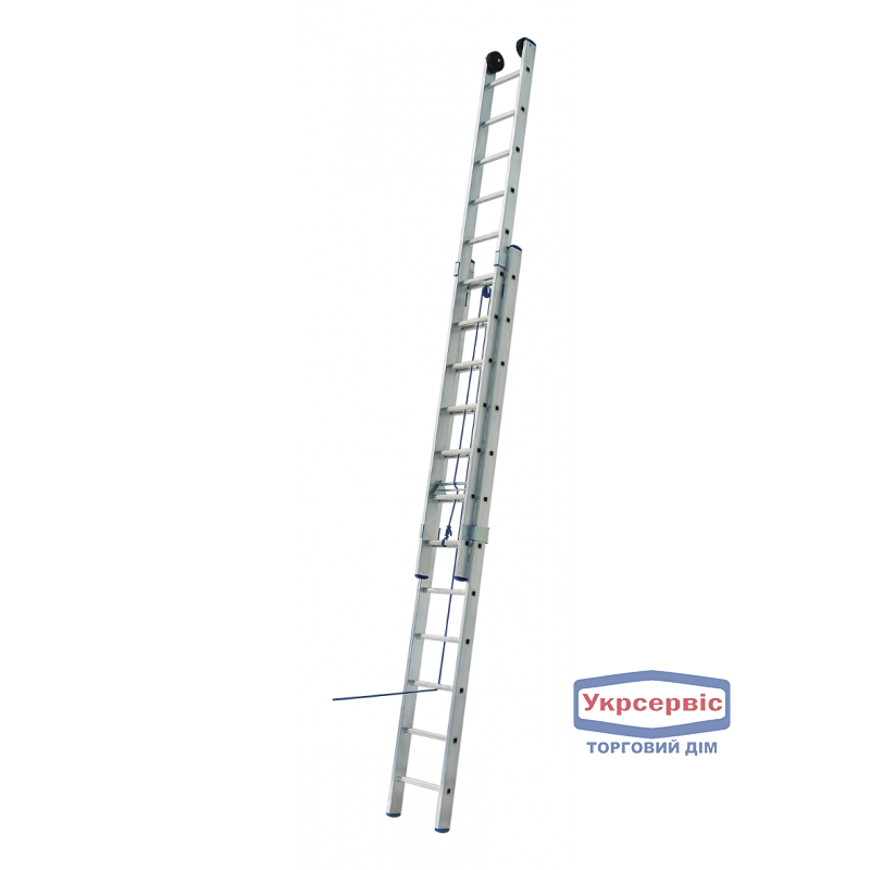 Лестница 2-х секционная ELKOP VHR L 2*20 на канатной тяге (Бесплатная доставка!)