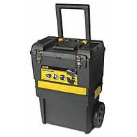 Ящик пластмассовый с колесами + ящик-органайзер  STANLEY STST1-71187