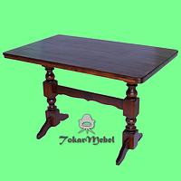 Деревянный стол для кафе на 2 ноги, 120х75