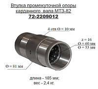 Втулка промопоры ПВМ 72-2209012 (МТЗ, Д-240) карданного вала шлицевая