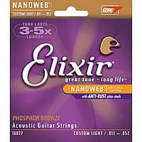 Струны для акустической гитары Elixir PB NW CL