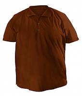 Футболка мужская поло большого размера коричневого цвета