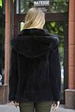 "Кожушок з датської норки ""Мирцелла"" з капюшоном Real mink fur coats jackets, фото 3"