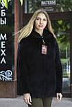 "Кожушок з датської норки ""Мирцелла"" з капюшоном Real mink fur coats jackets, фото 4"