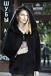 "Кожушок з датської норки ""Мирцелла"" з капюшоном Real mink fur coats jackets, фото 7"