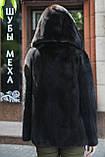 "Кожушок з датської норки ""Мирцелла"" з капюшоном Real mink fur coats jackets, фото 8"