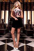 Женская шелковая блуза Ролини розовый ТМ Jadone  42-48 размеры
