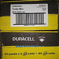 Duracell Turbo Max AA 80шт Бельгия