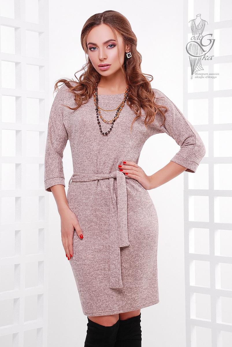 Ангоровое женское платье Мелани-2 из меланжа