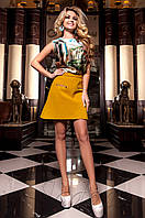 Женская шелковая блуза Ролини бирюзовый ТМ Jadone  42-48 размеры