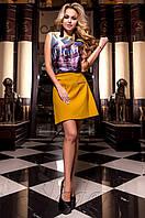 Женская шелковая блуза Ролини сиреневый ТМ Jadone  42-48 размеры