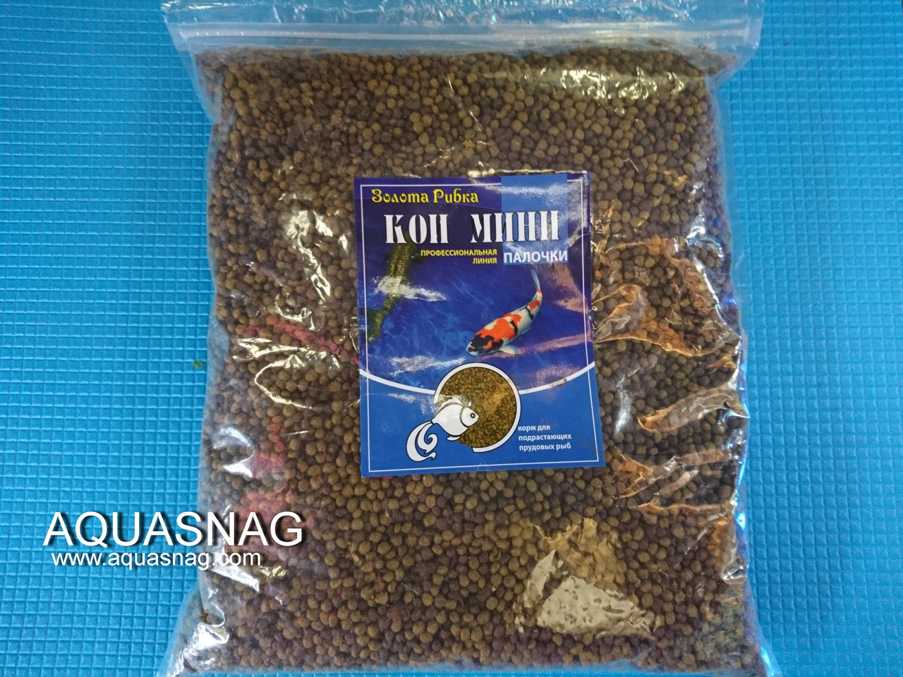 Кои Мини, шарики-1кг, основной, витаминизированный корм для молоди карпов кои.