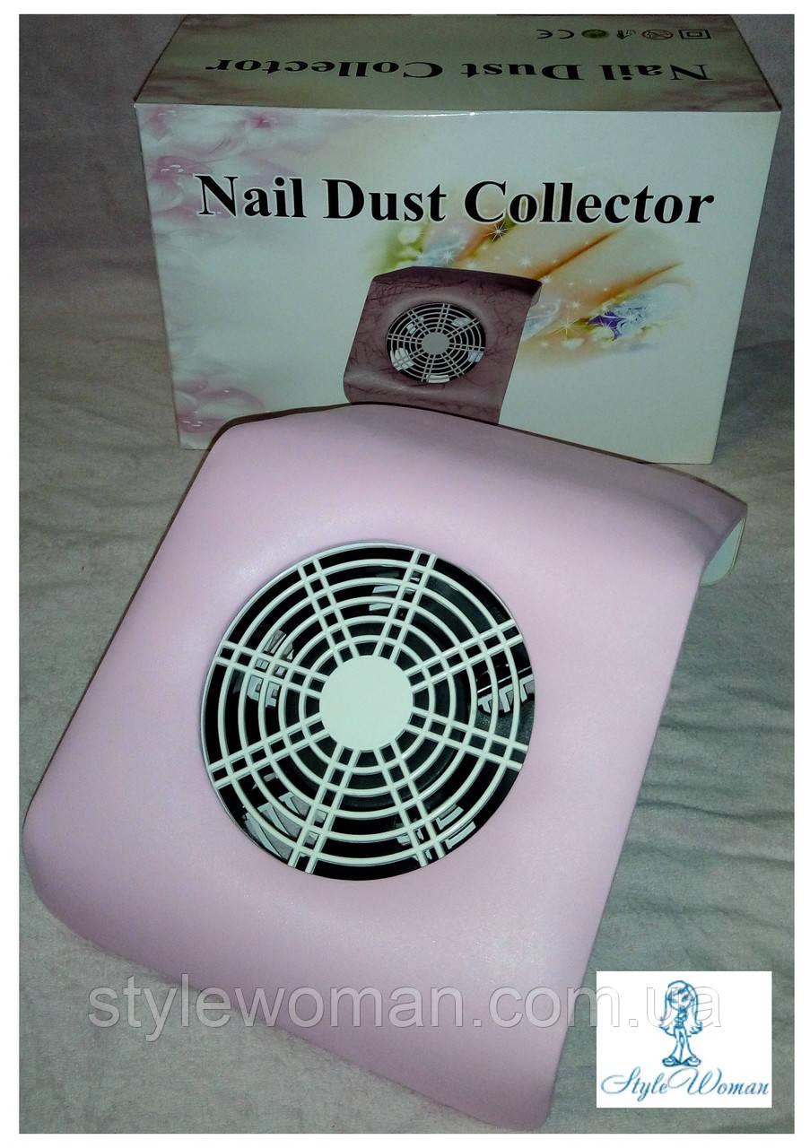 Вытяжка маникюрная пылесос YRE 20вт для маникюрного стола маленькая 20*23см розовая