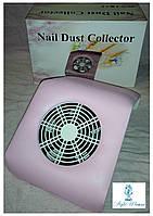 Вытяжка маникюрная пылесос YRE 20вт для маникюрного стола маленькая 20*23см розовая, фото 1