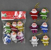 Набор игрушек на елку Дед Мороз набор 6 шт