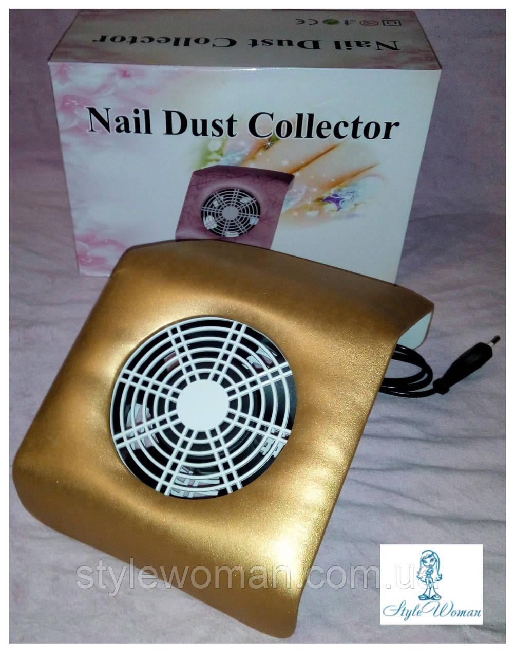 Вытяжка пылесос YRE 20вт для маникюрного стола маленькая 20*23см золото