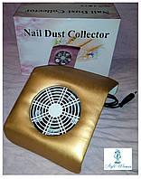 Вытяжка пылесос YRE 20вт для маникюрного стола маленькая 20*23см золото, фото 1