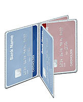 Кредитница. Вкладыш кредитницы. 20 карт. Книжная ориентация. Двойная загрузка. Прозрачный ПВХ, фото 1