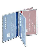 Кредитница. Вкладиш кредітніци. 4 карти. Книжкова орієнтація. Подвійна завантаження. Прозорий ПВХ, фото 1