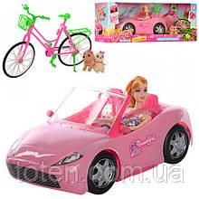 Кукла-блондинка 29 см из набора «Каникулы Кэти»  с машинкой и велосипедом K877-30E