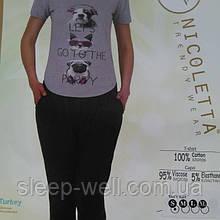 Пижама молодёжная с бриджами, Nikoletta