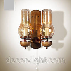 Бра 2-х лампове, настінний світильник, гасниця 8802-1