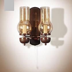 Бра 2-х ламповое, настенный светильник, керосинка  8802-2