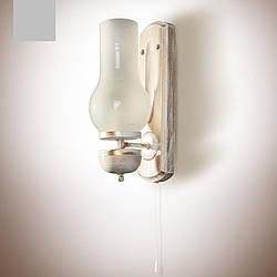 Бра деревянное, настенный светильник, керосинка  8901