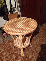 Круглый плетеный журнальной стол из лозы