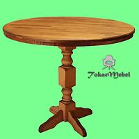 Деревянный стол для ресторана Круглый, д. 90