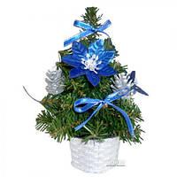 Искусственная Елка в вазоне 20см (8278) Синий цветок