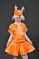Костюм Белочка 5-7-10 лет. Детский новогодний карнавальный маскарадный костюм для девочки Білочка
