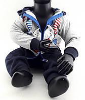 Детский костюм 1 год с начесом на байке