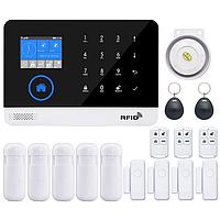 GSM, WiFi сигнализация PG-103 с поддержкой RFID. Охранная система для дома, офиса. Комплект C