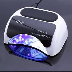 Сенсорная лампа CCFL + LED 48w. Лампа для сушки геля и лака