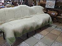 Карпатский плед из натуральной шерсти овчины, зеленый