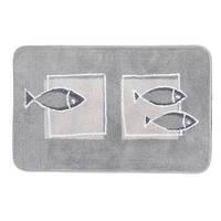 Коврик д/ванной polyester ANDROS  55х85 серый
