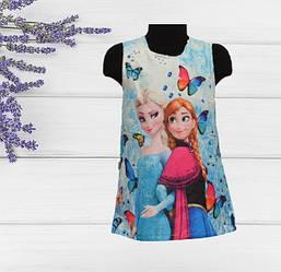 Платье Холодное сердце для девочек (голубое), на 1,2 года, Турция