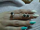 Комплект кольцо и серьги с гематитом, фото 4