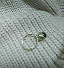Комплект кільце і сережки з гематитом, фото 3