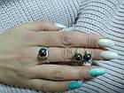 Комплект кольцо и серьги с гематитом, фото 6