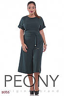Женский комбинезон Монтеррей (48 размер, малахитовый) ТМ «PEONY»