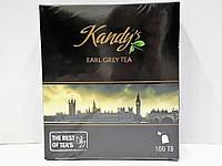 Чай черный Kandy's Earl Grey с бергамотом 100 пакетиков, фото 1