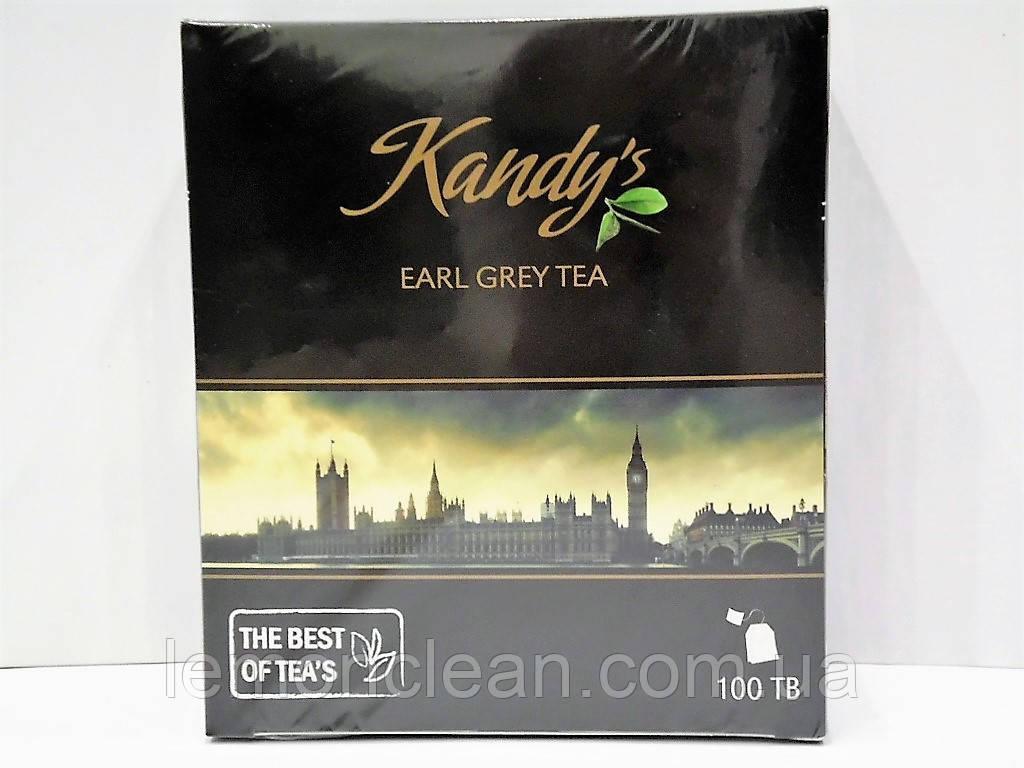 Чай черный Kandys earl grey tea 100 пак