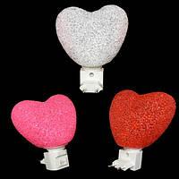 Оригинальный светильник Сердечко 220 V 12 см разных цветов