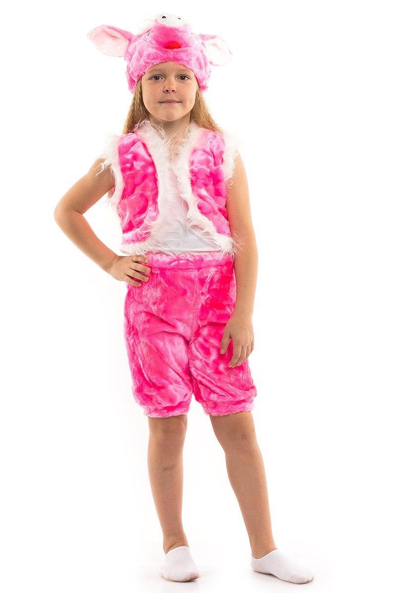 Детский карнавальный костюм Поросенка меховой (3-7 лет)